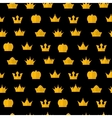 Golden Crown pattern on a black vector image vector image