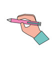 hand with pen write concept vector image