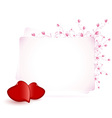 Happy Valentines Day Floral vector image vector image