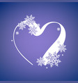heart snow frame vector image