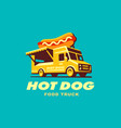 hot dog food truck concept vector image vector image
