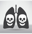 human lung icon vector image