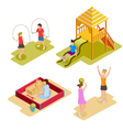 Isometric Playground Icon Set vector image vector image