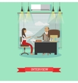 Job interview concept in flat vector image