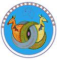kangaroo style vector image vector image
