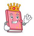 king diary mascot cartoon style vector image vector image