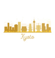 Kyoto City skyline golden silhouette vector image vector image