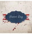Label Template with Patriot Day Text and Ribbon vector image vector image