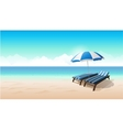 Landscape beach background vector image vector image