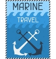 Marine Travel Nautical retro poster in flat design vector image vector image