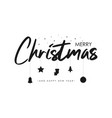 merry christmas text banner vector image vector image