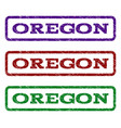 oregon watermark stamp vector image vector image