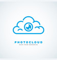 photo cloud vector image vector image