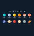 planet solar system vector image vector image