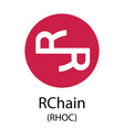 rchain cryptocurrency symbol vector image vector image