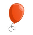 red balloon icon cartoon style vector image