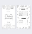 Restaurant menu template food and drinks brochure
