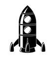 rocket black drawing vector image