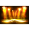 scene illumination show bright lighting with gold vector image vector image
