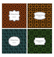 seamless geometric patterns with frame set vector image