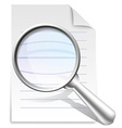 Search document vector image vector image