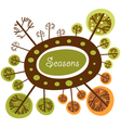 Seasons of the year funny logo vector image