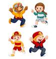 set cartoon character vector image vector image