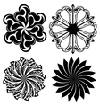 Set of round tattoo elements vector image vector image