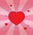 shiny hearts shape vector image vector image