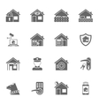 Smart home security system black icons set vector image vector image