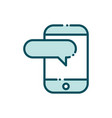 smartphone speech bubble social media line and vector image