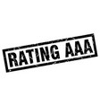 square grunge black rating aaa stamp vector image vector image