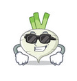 super cool turnip character cartoon style vector image vector image