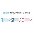 three steps infographic template vector image vector image