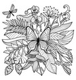 tropical coloring page vector image vector image