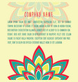 vintage oriental decorative elements of mandala vector image
