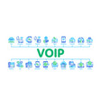 voip calling system minimal infographic banner vector image