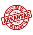 welcome to arkansas red stamp vector image vector image