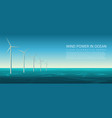 wind energy power concept poster header vector image vector image