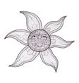 Elegant sun drawing vector image