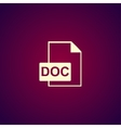 File document icon vector image