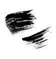 Grunge brushes texture set vector image