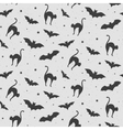 Black and white pattern of cat vector image
