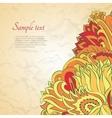 Flower ornamental frame in eastern style vector image