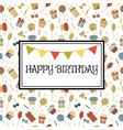 Happy Birthday greeting card Cute birthday vector image