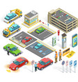 1611i201008Pm003c23Parking set isometric objects vector image vector image