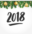 2018 hand drawn numbers fiesta border with fir vector image