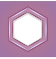 3D hexagonal frame vector image vector image