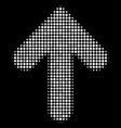 arrow up halftone icon vector image vector image