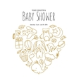 bashower invitation template hand drawn vector image
